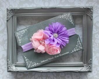 Purple and pink headbands, baby pink headbands, adjustable headbands, pink headbands, purple headbands, elastic headbands