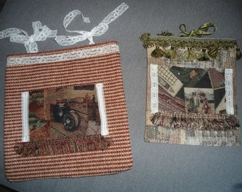 Pair of Upolstery Fabric Gift bags