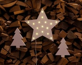 Christmas star LED lamp winter decorative light eco lights night lamp decor for wall wooden sign