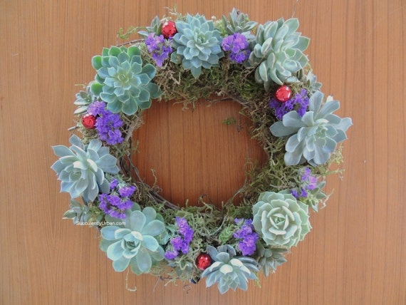 Items similar to succulent holiday wreath table