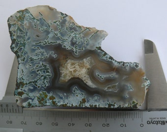 Polished Moss Agate with Calcite from Hungary Middle-Europe (AG-GYT67)
