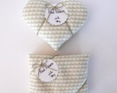 Hand Warmers - Choice of Hearts or Rectangles Gray Sundae