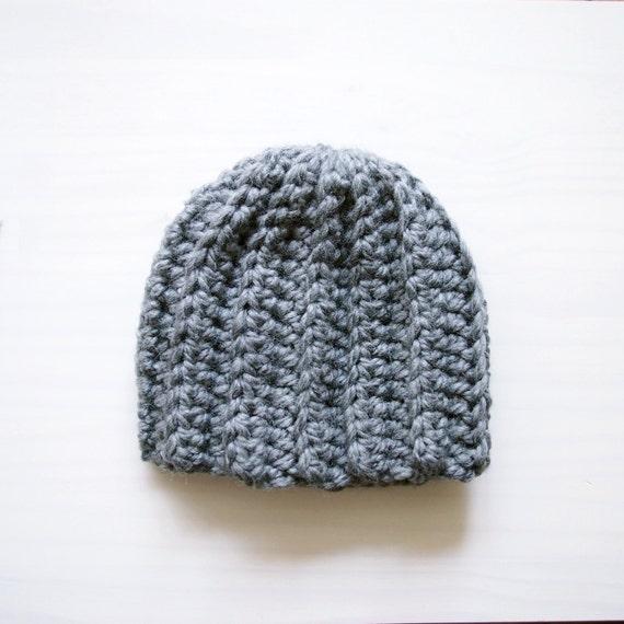 Crochet Hat Pattern For Bulky Yarn : Crochet Pattern bulky woman basic hat women beanie knit look