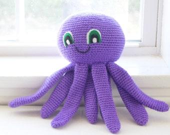 Crochet Octopus - Choose Your Colors - Custom Made Octopus