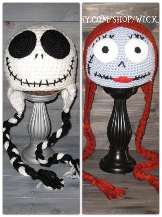 Adult Jack Skellington Nightmare Before Christmas crochet hat