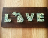 Michigan string art decor michigan love