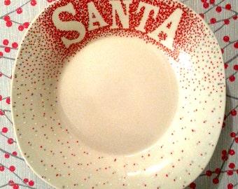 Custom ceramic Santa's Cookies plate