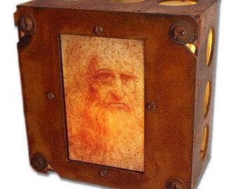 Leonardo da Vinci Self Portrait Night Light Steampunk