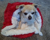 Red Faux Fur Pet Cuddle