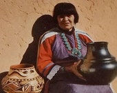 Maria Martinez, San Ildefonso Indian Pottery Maker, ca1950 postcard
