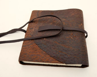 Handmade to Order Distressed Leather Bound Travel Journal Diary Notebook (426B)