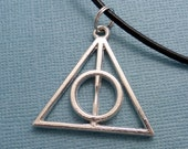 Harry Potter Inspired - Deathly Hallows Necklace or Keychain - READY to SHIP
