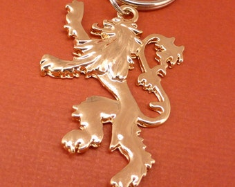 Game of Thrones Inspired - House Lannister - Keychain or Necklace - READY to SHIP