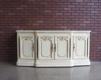 French Style Buffet / Painted Buffet / Painted Sideboard by Drexel Heritage