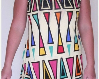 25% OFF CLEARANCE SALE Funky tribal print short dress