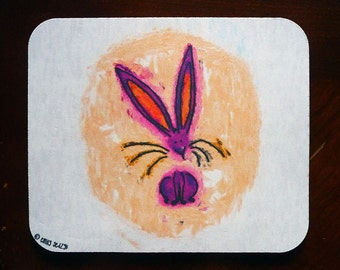 Colorful Bunny Mousepad, 35% of the proceeds support the House Rabbit Society!