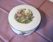 Easter Trinket Box Signed Covered with Chick and Eggs Germany