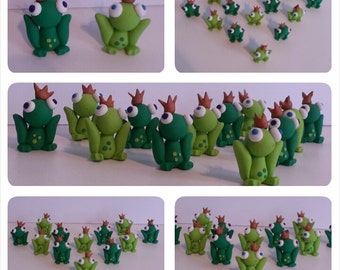 Frog Prince Cupcake Toppers- Gift Box Toppers- Gift Charms