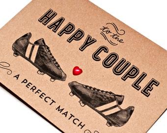 Football / Soccer Themed Wedding Card