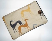 ipad Mini Cover made with greyhound ,whippet fabric.