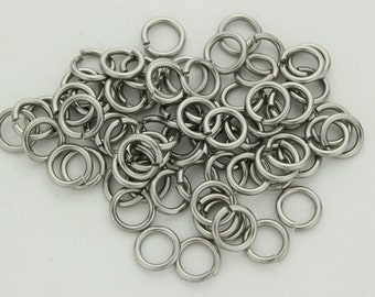 16 swg 1/4'' jump rings stainless steel saw cut AR 4.3