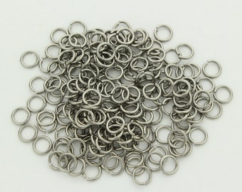 """18 swg 3/16"""" jump rings stainless steel saw cut AR 4.7"""