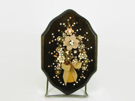 Pol O Craft Nail Flower Art 1977 Pauline A Owens Original