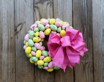 Easter Wreath, Easter Egg Wreath, Speckled Egg Wreath, Egg Wreath