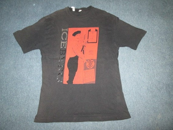 vintage iceberg history t shirt original made in italy