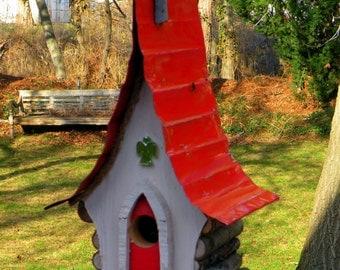 bird house, Birdhouse, Original Birdhouse, country decor, garden art, God of the Sparrow Chapel Birdhouse. church birdhouse