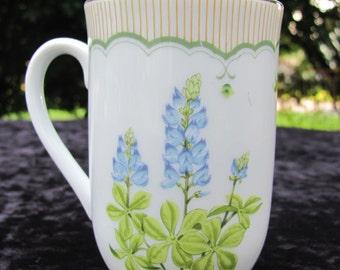 Georges Briard Victorian Garden Coffee Mug Texas Bluebonnet