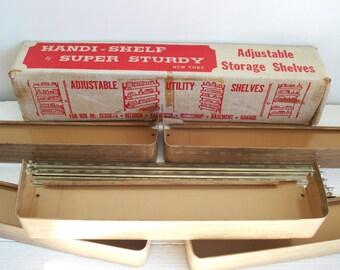 Vintage Handi-Shelf by Super Study Adjustable Utility Storage Shelf
