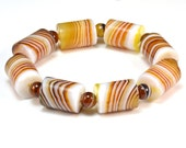 agate bracelet, banded agate jewelry, gemstone bracelet, stripe agate bracelet, tube stone bracelet, simple elegant jewelry, statement jewel