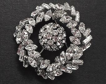 Exquisite Large Austrian Crystal Rhinestone Brooch