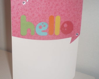 Greeting Card Hello Everyday Card
