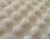 """DOWNSIZING SHOP SALE...White Hand Made Large Popcorn Vintage Bedspread Fabric Piece 18 x 24"""""""