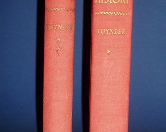 A Study of History by Arnold J. Toynbee  Vintage 1957 Abridgment of volumes I - VI & VII - X