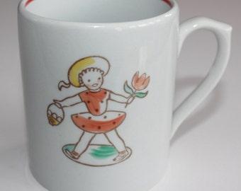 Gunnar Wahlroos design vintage children's mug by Arabia Finland