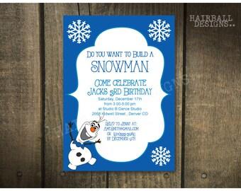 Printable Olaf Frozen Birthday invitation