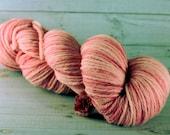 Cherry Blossom Hand Dyed Yarn, worsted merino wool, pink yarn