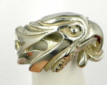 Vintage Sterling Silver Eagle Ring