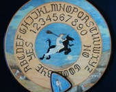 """FREE SHIPPING - Ouija board - Spiritistic board - Talking board """"Flight of Young Witches"""""""