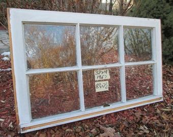 32 x 19 Vintage Window sash old  6 pane from 1967