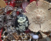 Vintage Jewelry Lot, Craft Destash Supplies by the Pound, Mismatched Jewelry for Arts, Crafts, Projects