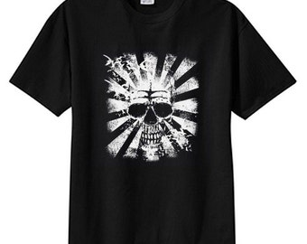 Rising Sun Skull New T Shirt Plus Sizes Cool Tattoo Art