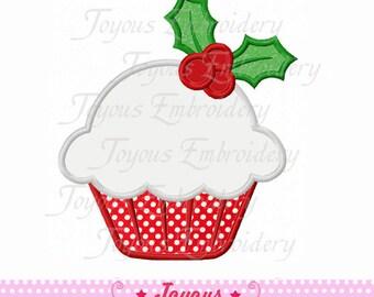 Instant Download Christmas Cupcake Applique Embroidery Design NO:1619