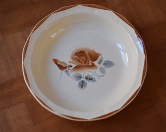 Vintage French earthenware bowl by DIGOIN SARREGUEMINES FRANCE
