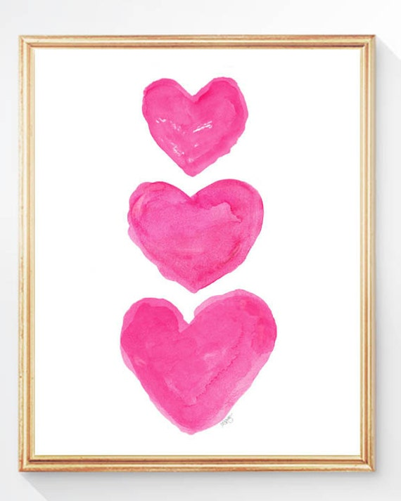 Hot Pink Room Decor Pink Girls Wall Decor Hot Pink Wall Art