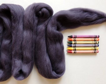 MERINO WOOL ROVING / Plum 1 ounce / fiber for nuno felting, wet felting, spinning yarn, basket filler, infant photography props, dreadlocks