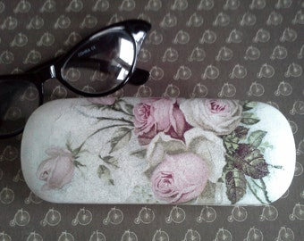 Spectacle case, box for glasses, eyewear, eyeglass case, decoupage box, art spectacle, uncommon box, glasses case, lacquer with brocade